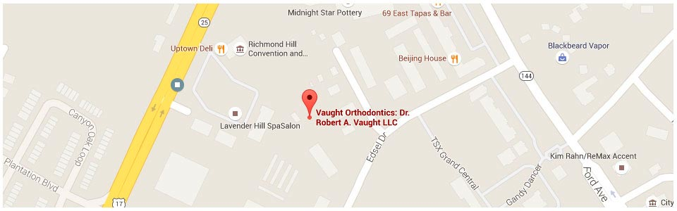 Google Map Vaught Orthodontics Savannah Richmond Hill GA
